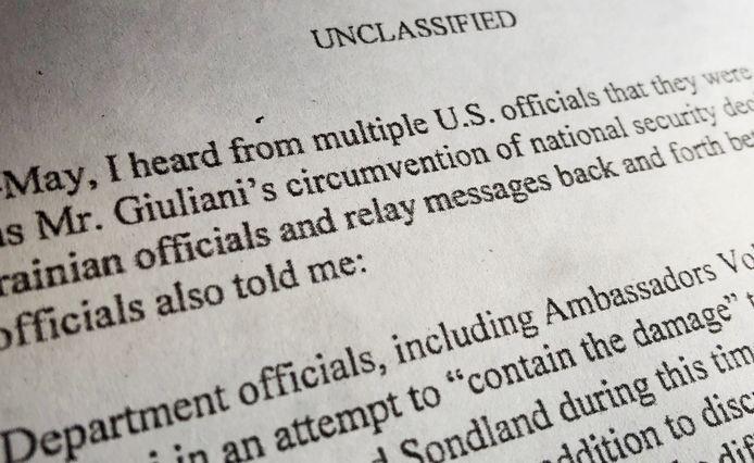 Giuliani's naam komt meermaals voor in de klacht die de klokkenluider neerlegde.