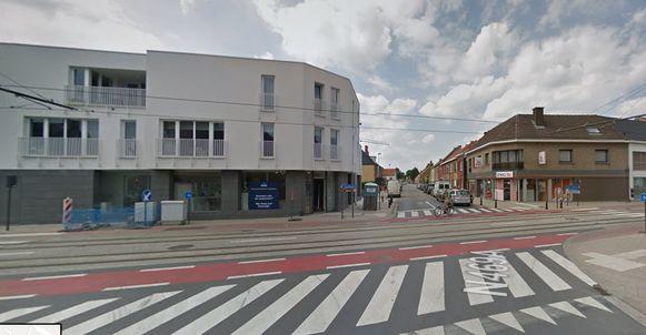 Het kruispunt van de Heerweg-Zuid met de dorpsstraat.