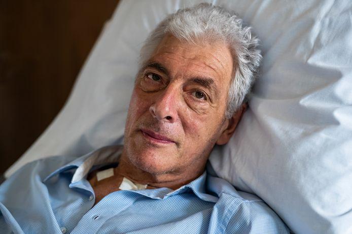 Henk Fokkema lag als coronapatiënt meer dan honderd dagen in het Groene Hart Ziekenhuis in Gouda en verblijft sinds gisteren in revalidatiecentrum De Hoogstraat in Utrecht.