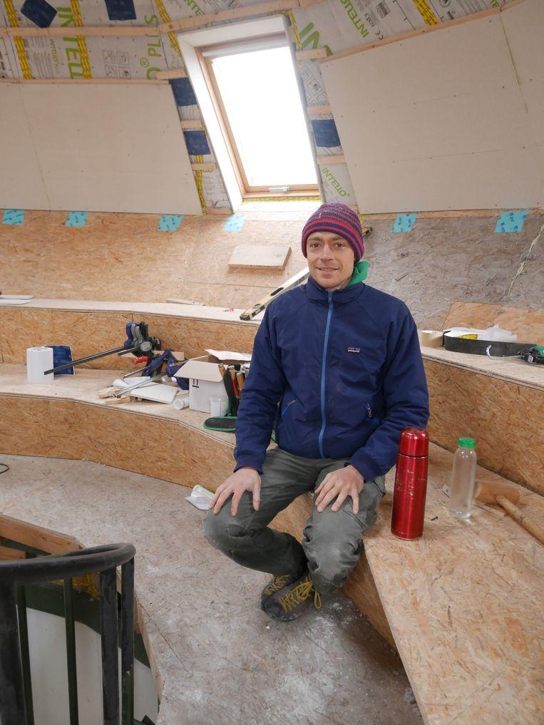Christophe Lemmens van Atelier Recup in de Droomhut in Spoor Noord.