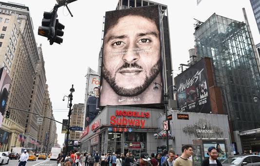 Colin Kaepernick als een van de gezichten in Nike-reclames.