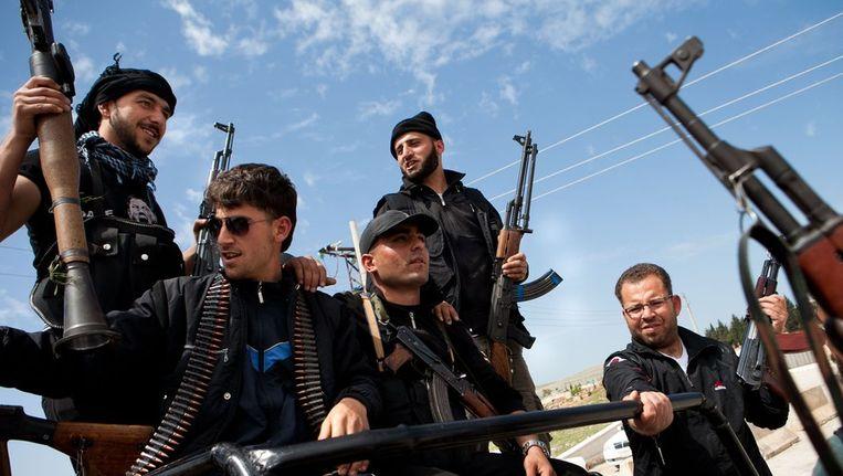 Syrische rebellen in opstand tegen president Bashar al-Assad. Beeld afp