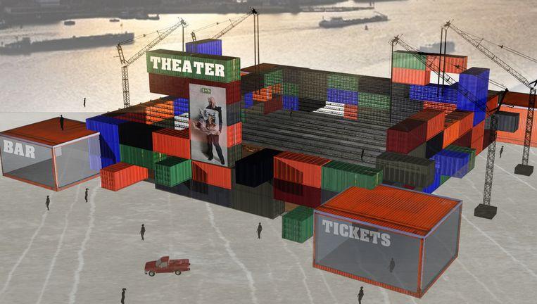 Ontwerp voor theater in Amsterdam-Noord. Beeld Michiel voet