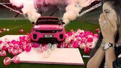 Roze Range Rover, helikoptervlucht, vuurwerk én prachtige ring: dit aanzoek moet je zien om het te geloven