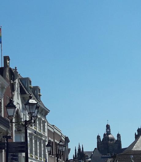 Roze en regenboog overheersen straatbeeld Den Bosch