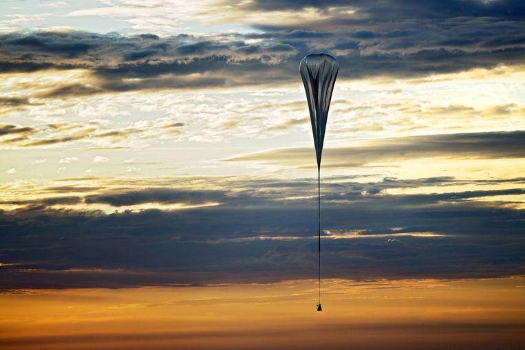 De luchtballon met ruimtecapsule waarmee Felix Baumgartner in 2012 de tweede test voor zijn 'ruimtesprong' voor Red Bull Stratos uitvoerde. De ballon steeg op in Roswell.