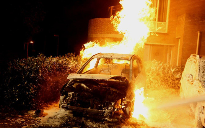 Autobrand in Rosmalen