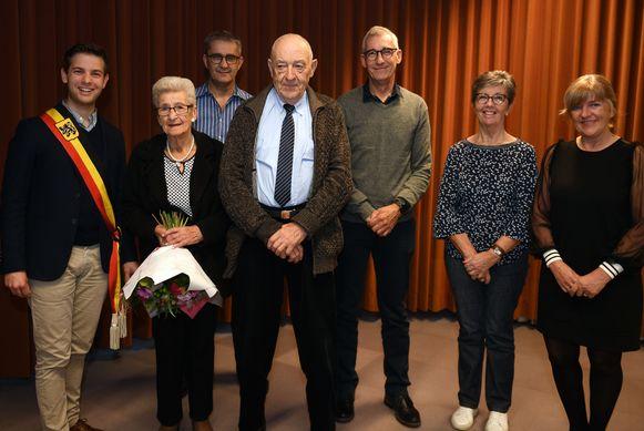 Briljanten bruiloft van Henri Heylighen en Marguerite Van Eyken uit Rotselaar