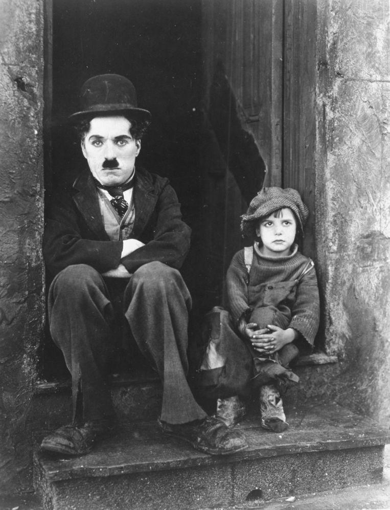 Charlie Chaplin met Jackie Coogan in 'The Kid'.