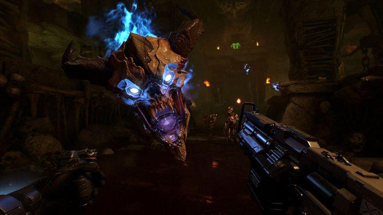De tegenstanders hebben nog steeds dezelfde vorm als degene die u tegen het lijf liep in de originele 'Doom'.