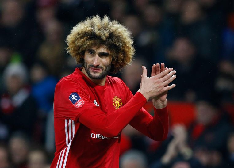 Marouane Fellaini in het shirt van Manchester United.