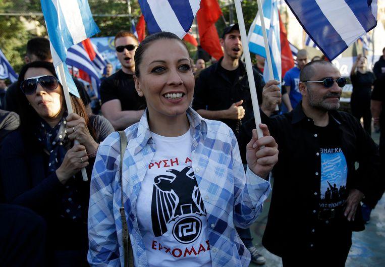 Het extreemrechtse Gouden Dageraad is de derde partij in Griekenland.