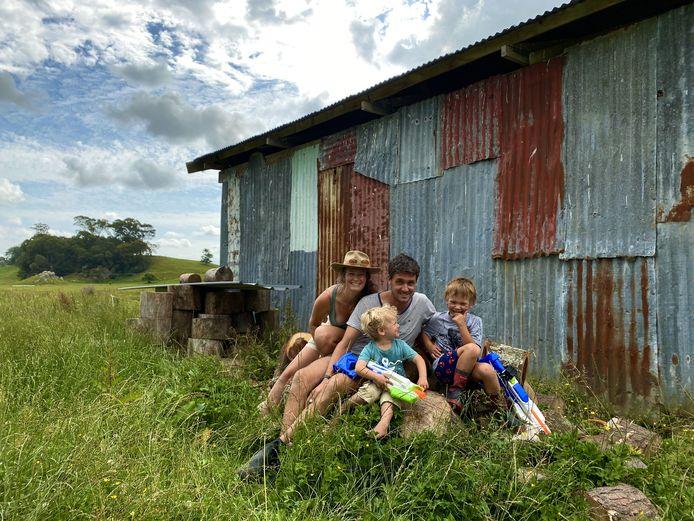 Liz de Zeeuw en haar gezin in Nieuw-Zeeland