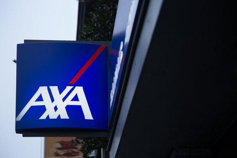 Het logo van AXA. Archieffoto.