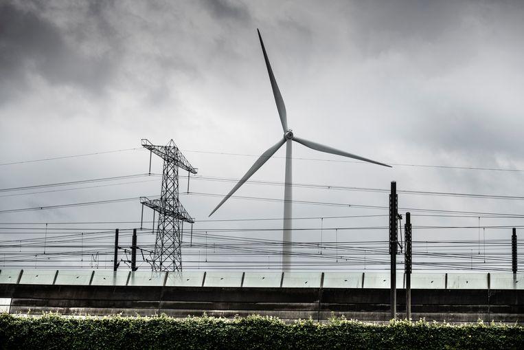 Windmolen van het Windpark Nijmegen. Beeld Koen Verheijden