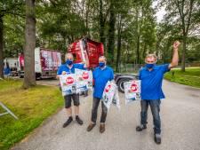 Tukker Truckers delen ijs uit op tropische dag bij De Twentse Zorgcentra: 'Zo heet!'