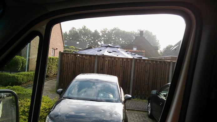 Veel schade in Luyksgestel na noodweer.