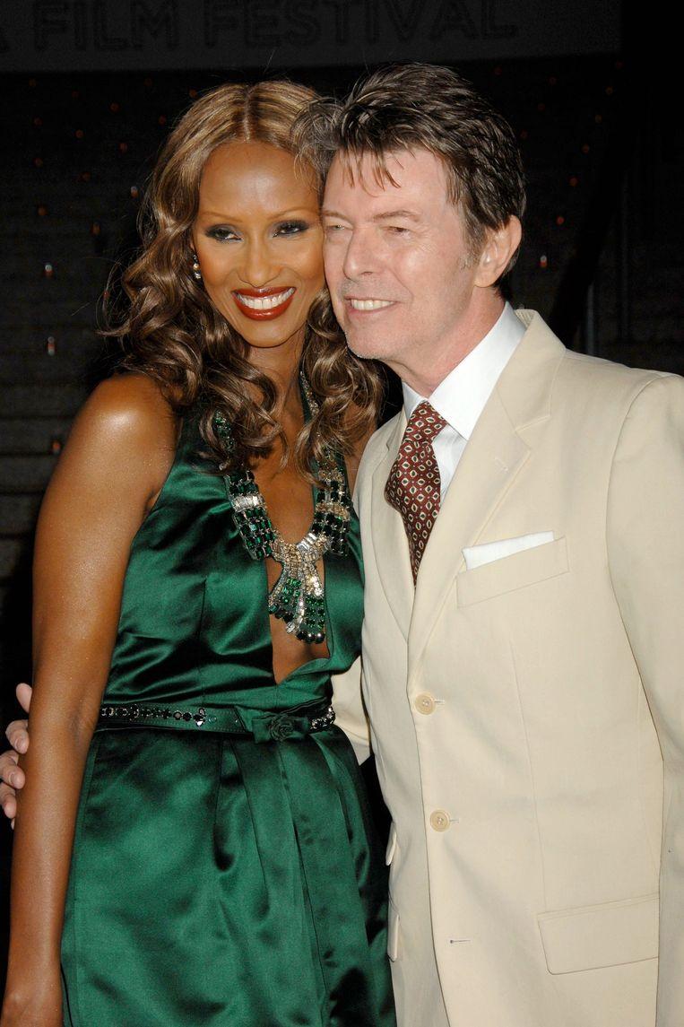 Bowie in 2007 met zijn vrouw Iman. Beeld photo_news