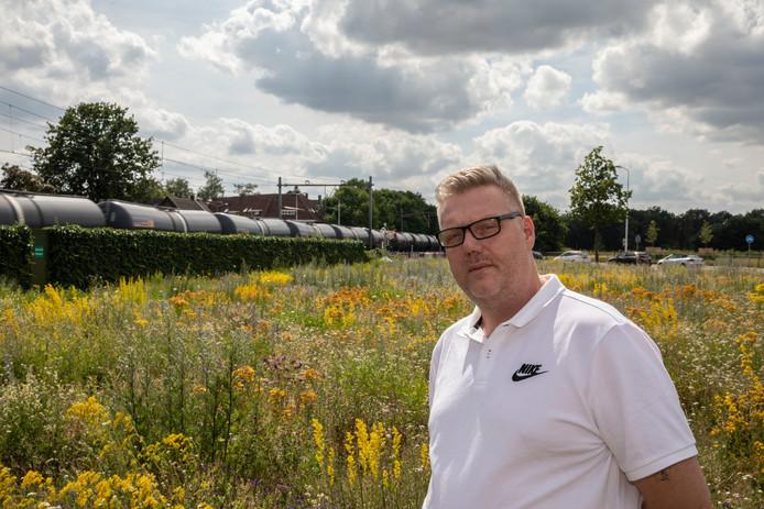 René van Stallenberg uit Eindhoven woont vlakbij het spoor.