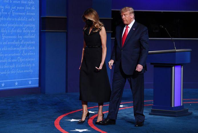 Melania et Donald Trump lors du dernier débat présidentiel le 22 octobre dernier.
