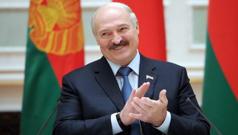 President Loekasjenko van Wit-Rusland, de 'laatste dictator van Europa', is mogelijk aanwezig in Riga. Beeld AFP