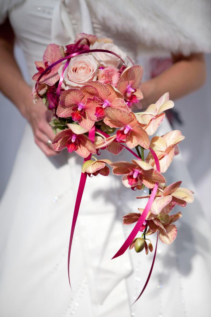 NLD;Rottedam;Nederland;ROTTERDAM  Op de Bruidsbeurs in Ahoy kun je inspiratie opdoen voor een aanstaand huwelijk. Zo ook de bruidsboeketen. ANP XTRA NILS VAN HOUTS
