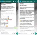 De chatbot van WHO op WhatsApp.