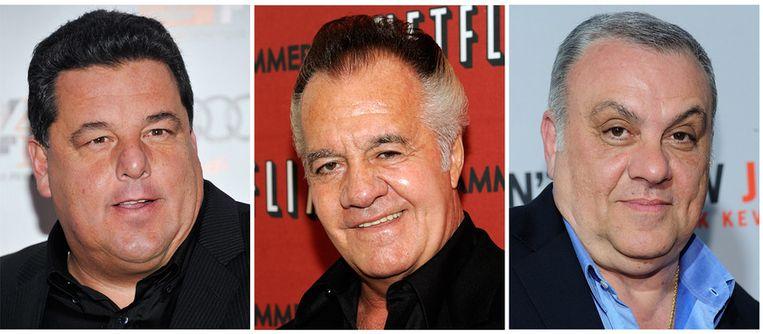 De Sopranos acteurs geven hun steun aan de Republikein Joe Lhota. Beeld ap