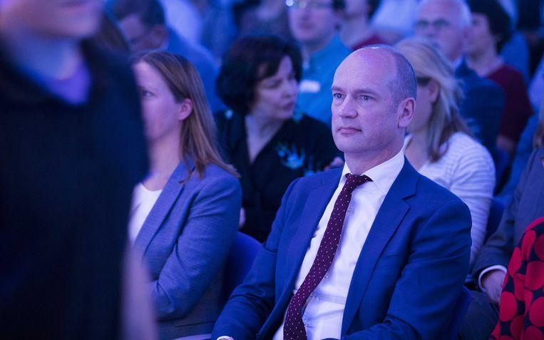 Gert-Jan Segers tijdens het 35e partijcongres van de ChristenUnie in Lunteren.  Beeld ANP