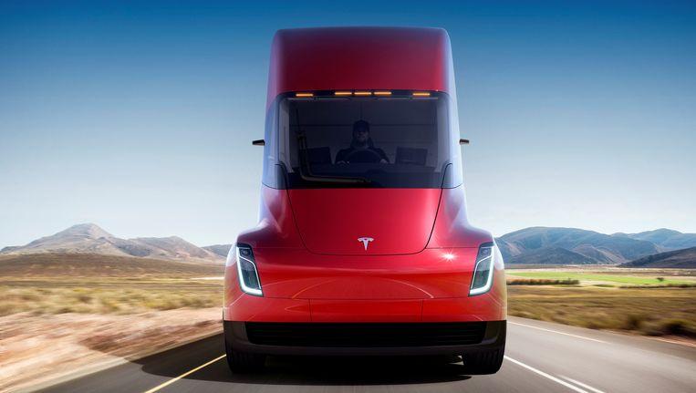De Tesla-vrachtwagen. Beeld null