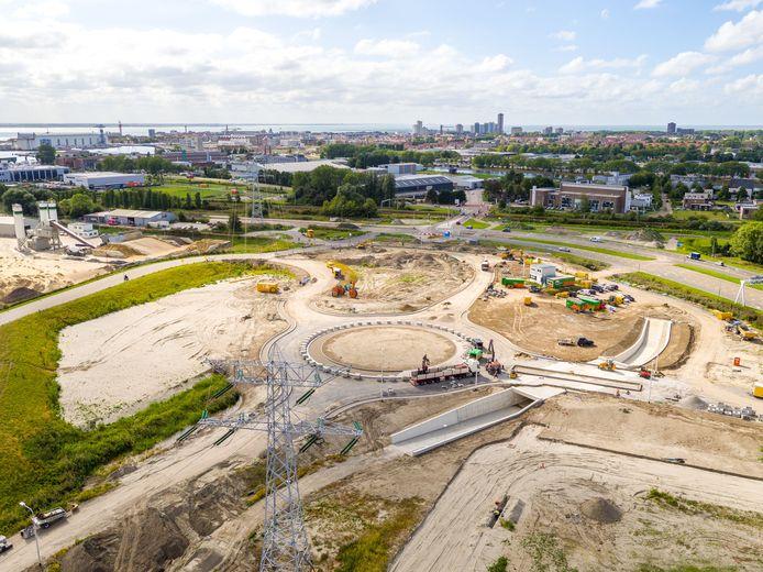 In Vlissingen zijn vooruitlopend op de bouw van de kazerne de wegen aangepast.