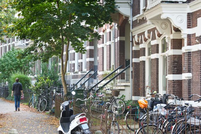 Straatbeeld van studentenpanden in Nijmegen.