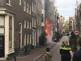 Flinke brand in Binnen Brouwersstraat in Centrum