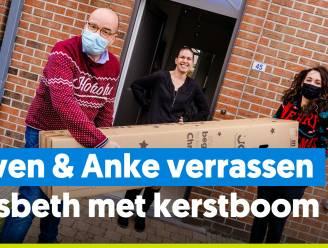 Sven & Anke verrassen Lisbeth met de eerste Joe-kerstboom
