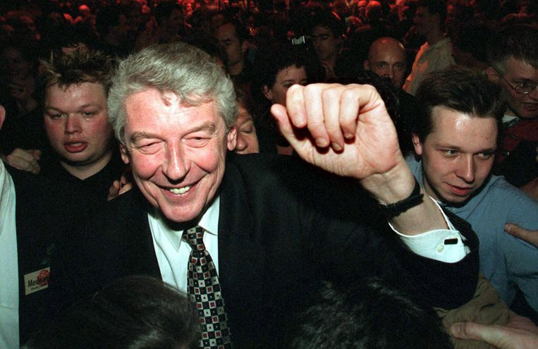 Wim Kok na de verkiezingswinst in 1998. Beeld anp