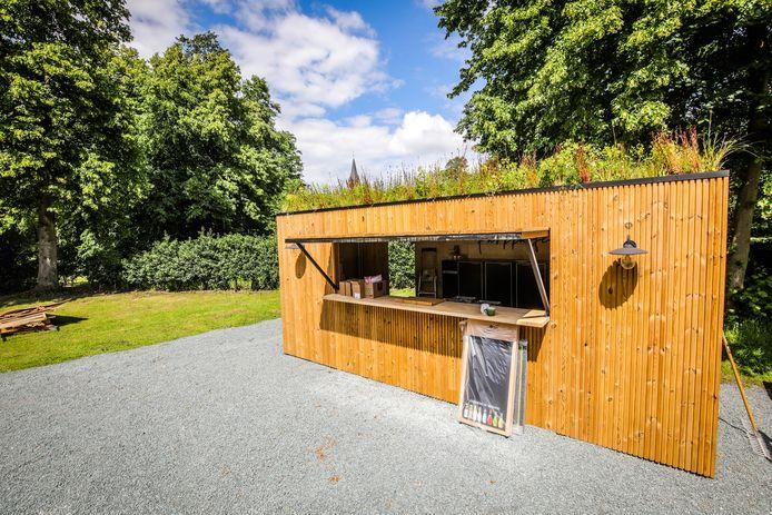 Brugge Damme: pop up bar Ryckevelde park cafe: Laurens Vogelaers: ecologische bar