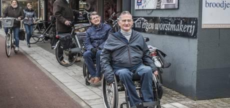 'Obstakels in winkels en cafés'