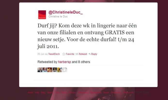 Preutse Diender Valt Over Actie Christine Le Duc Enschede E O