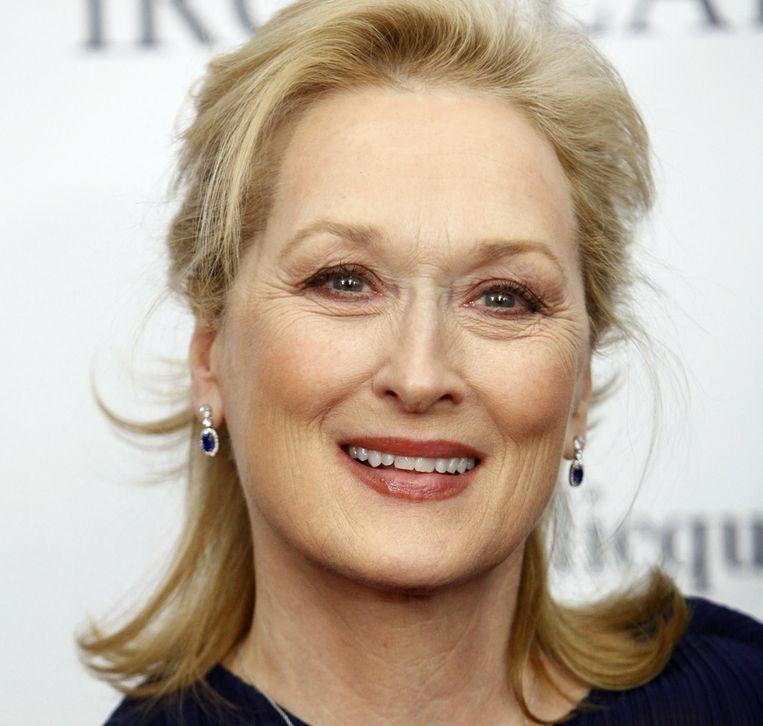 Meryl Streep bij de première van 'The Iron Lady' in New York. Beeld ap