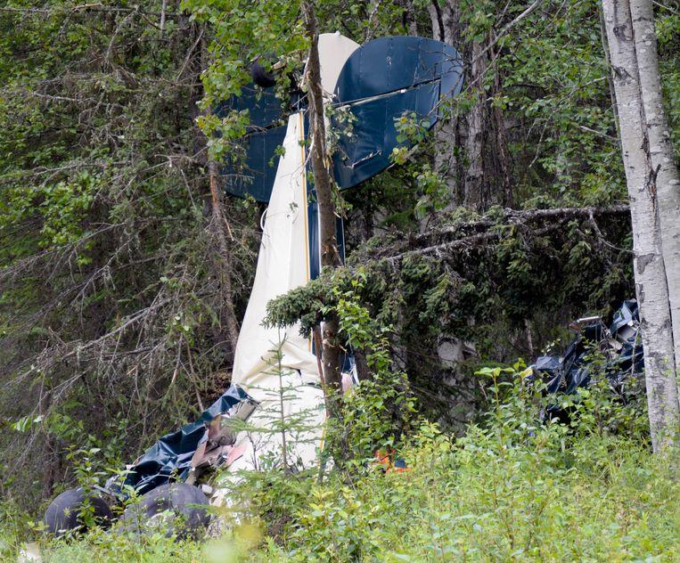 De resten van één van de vliegtuigjes net buiten Soldotna, in Alaska.