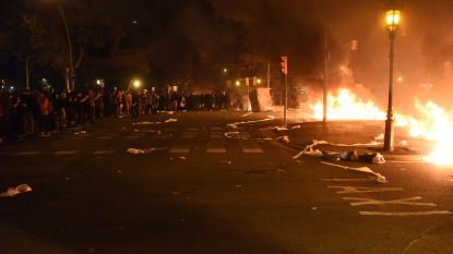 Boze Catalanen komen opnieuw op straat: verschillende auto's in brand gestoken