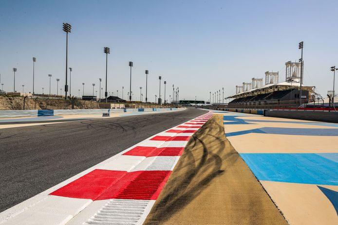Het circuit van Sakhir van Bahrein.