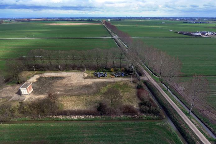 De plek aan de Broekgraaf in Herwijnen, waar de radar moet komen te staan.