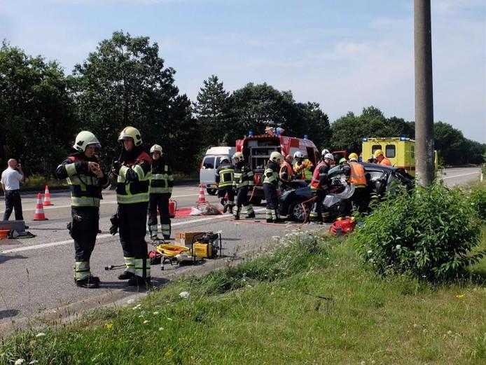 Ongeval op A67 bij Bladel