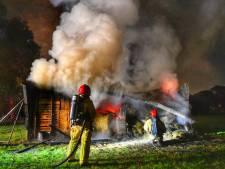 Veel rook door brandende schuur in Valkenswaard
