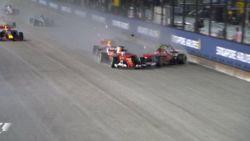 Formule 1 of botsauto's? Horrorstart voor Verstappen en Ferrari's in Singapore