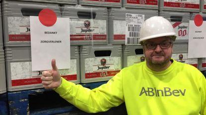 AB InBev schenkt alcoholvrij bier en 12.000 flesjes handgel aan Belgische zorgsector