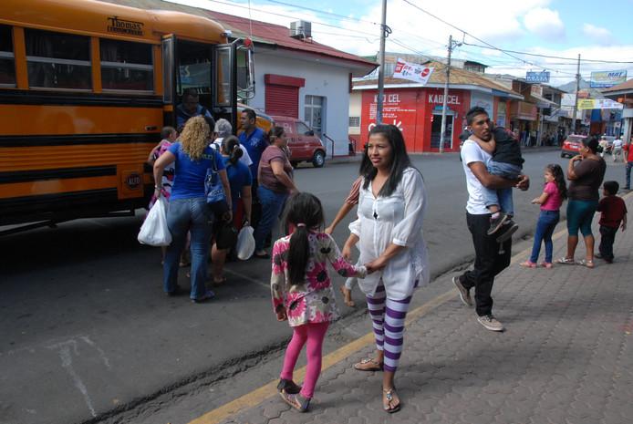 Straatbeeld in Matagalpa.