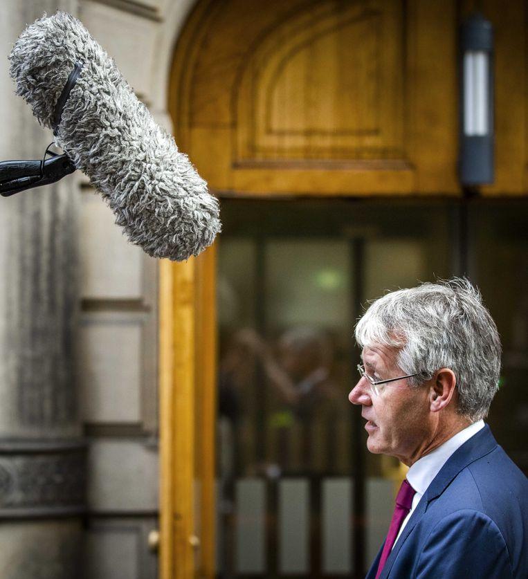 Minister Arie Slob voor Basis- en Voorgezet Onderwijs afgelopen vrijdag op het Binnenhof voor de wekelijkse ministerraad.  Beeld ANP/Remko de Waal