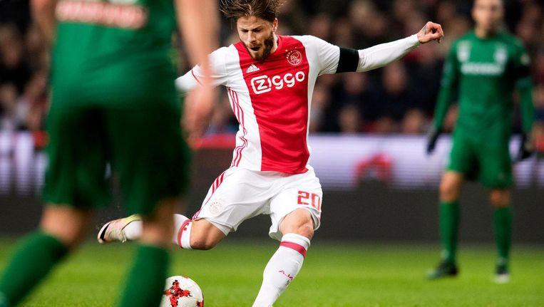 Lasse Schöne in actie voor Ajax. Beeld anp
